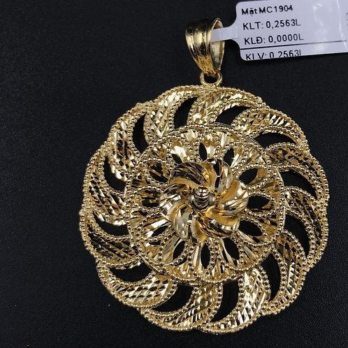 Mặt dây hoa vàng