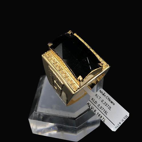 Nhẫn nam vàng đá đen caro VJC 610
