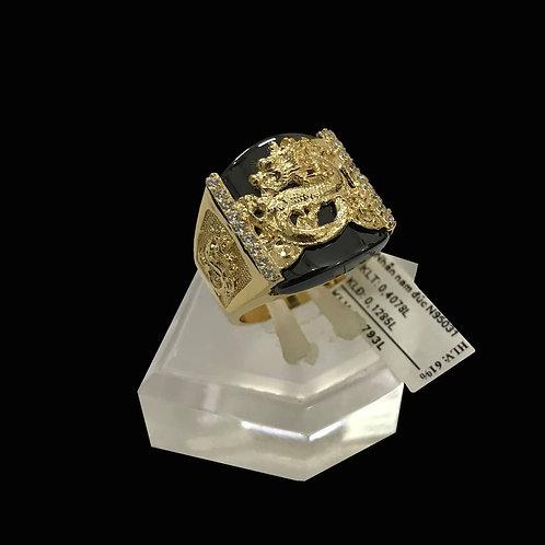 Nhẫn nam Rồng Vàng đá đen VJC 610