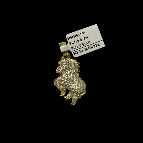 Mặt dây ngựa vàng đá trắng VJC 610