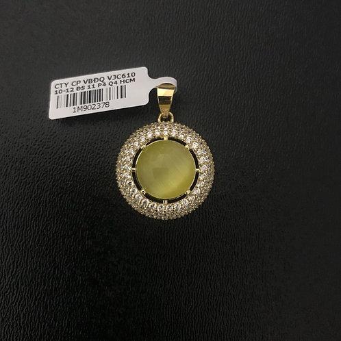 Mặt dây chuyền vàng đá màu vàng VJC 610
