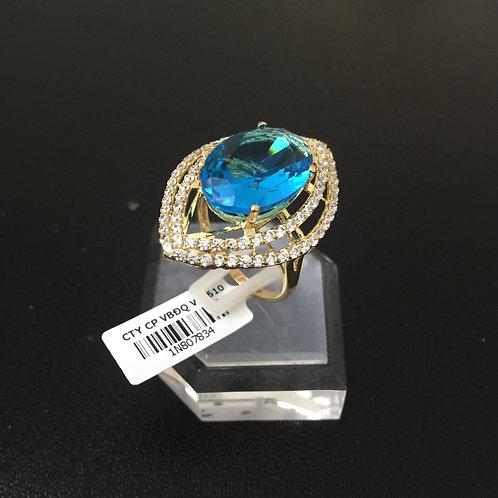 Nhẫn vàng nữ đá xanh VJC 610