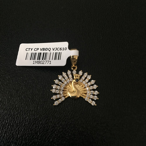Mặt dây chuyền vàng con công VJC 610