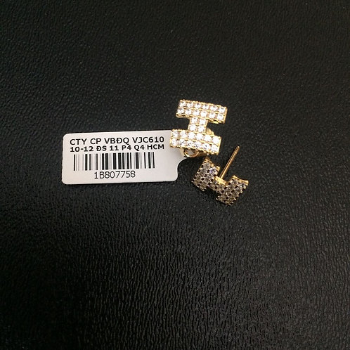 Bông tai vàng H VJC 610