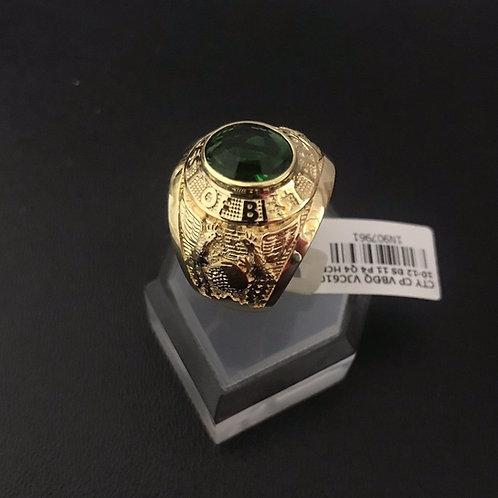 Nhẫn Mỹ nam vàng đá xanh lá cây VJC 610