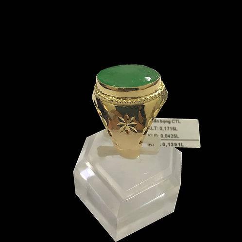 Nhẫn nữ vàng đá cẩm thạch lớn VJC 610