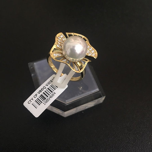 Nhẫn vàng nữ hột bẹt VJC 610