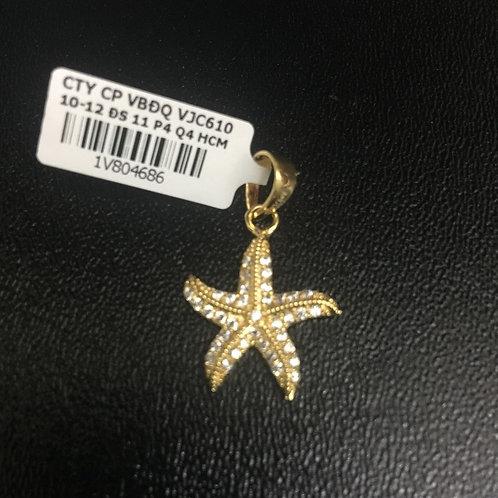 Mặt dây chuyền vàng sao biển đá trắng VJC 610