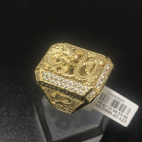 Nhẫn nam Rồng Vàng đá trắng VJC 610