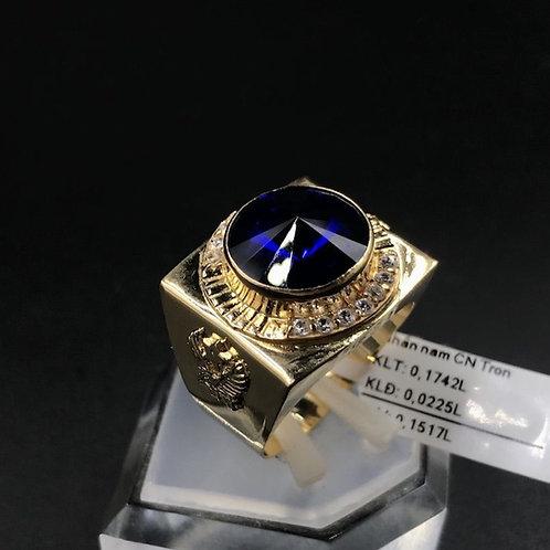 Nhẫn nam vàng đá xanh biển