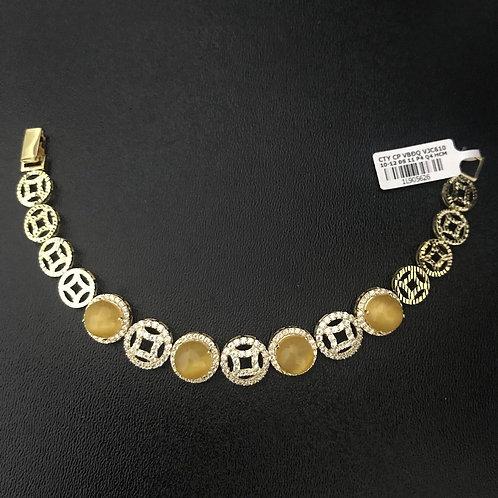 Lắc tay đồng tiền vàng đá vàng VJC 610