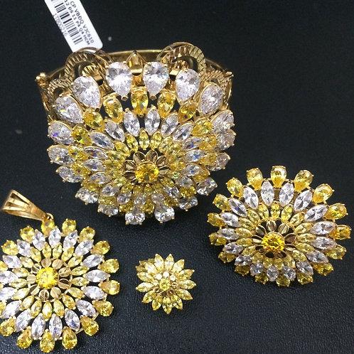 Bộ Trang sức Vàng hoa đá vàng VJC 610
