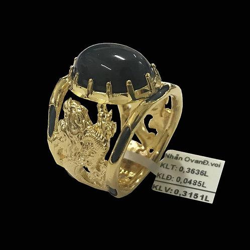 Nhẫn nam vàng đá đen VJC 610