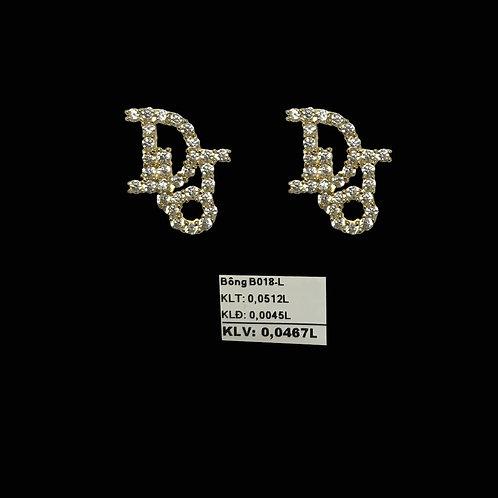 Bông tai Dior vàng đá trắng VJC 610