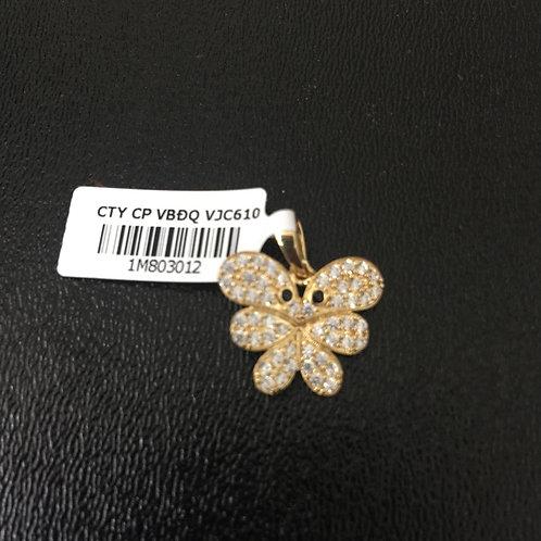 Mặt dây chuyền vàng chiếc lá VJC 610