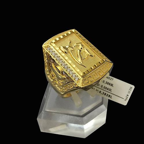 Nhẫn nam chữ Tài vàng đá trắng VJC 610