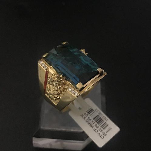 Nhẫn nam vàng đá Xanh biển VJC 610