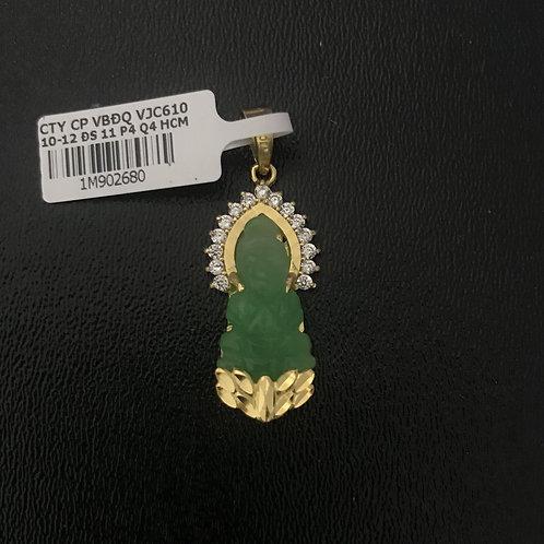Mặt dây vàng Phật Bà Cẩm thạch VJC 610