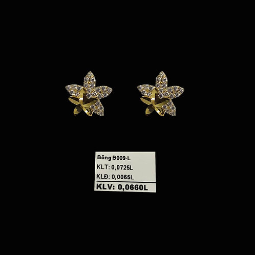 Bông tai ngôi sao vàng đá trắng VJC 610