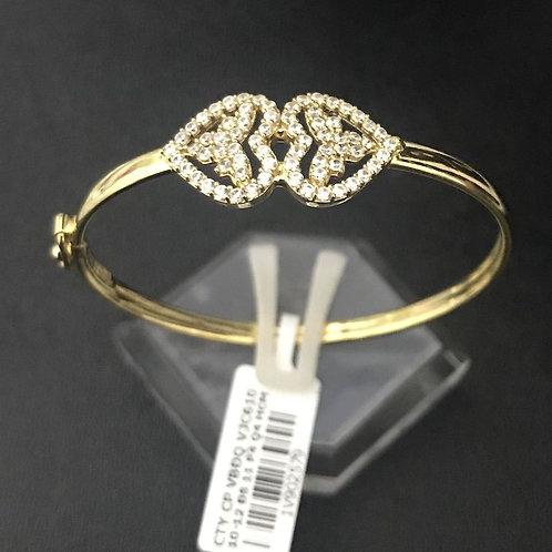 Vòng tay tim vàng đá trắng VJC 610