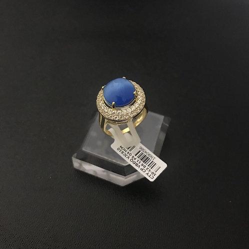 Nhẫn nữ vàng hoa đá Xanh nước biển VJC 610
