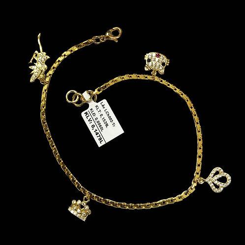 Lắc tay charm vàng đá trắng VJC 610