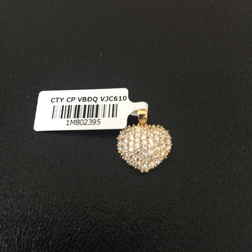 Mặt dây chuyền vàng trái tim VJC 610