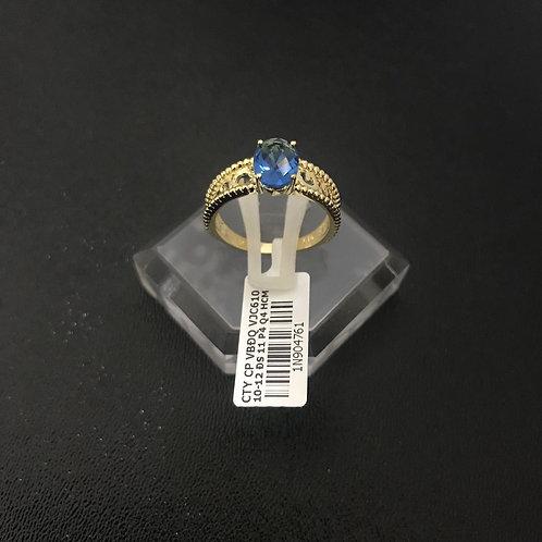 Nhẫn nữ vàng đá Xanh nước biển VJC 610