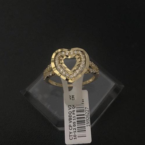 Nhẫn nữ tim vàng đá trắng VJC 610