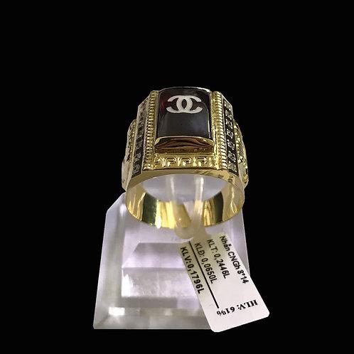 Nhẫn nam chanel vàng đá đỏ VJC 610