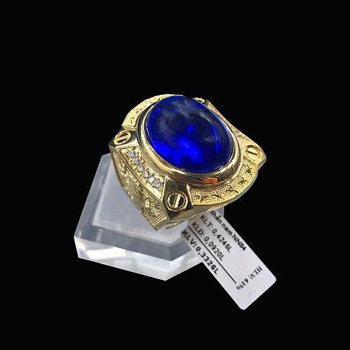 Nhẫn nam Đại bàng vàng đá xanh biển VJC 610
