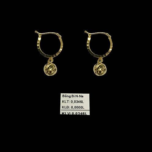 Bông tai bi vàng nhỏ VJC 610