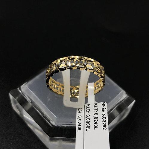 Nhẫn nữ đồng tiền vàng