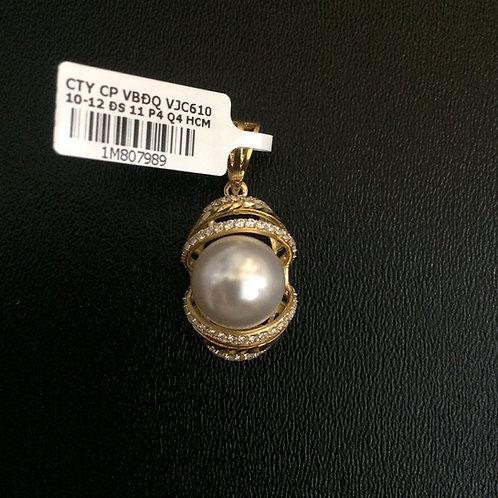 Mặt dây chuyền vàng hột bẹt VJC 610