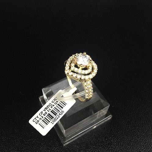 Nhẫn nữ vàng tim đá trắng VJC 610