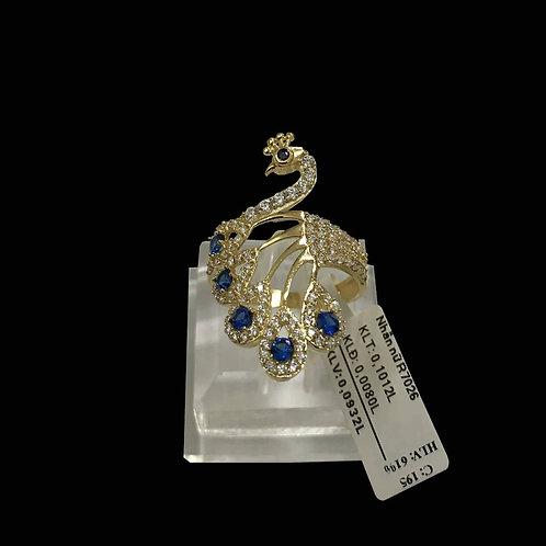 Nhẫn nữ Công vàng đá xanh biển VJC 610