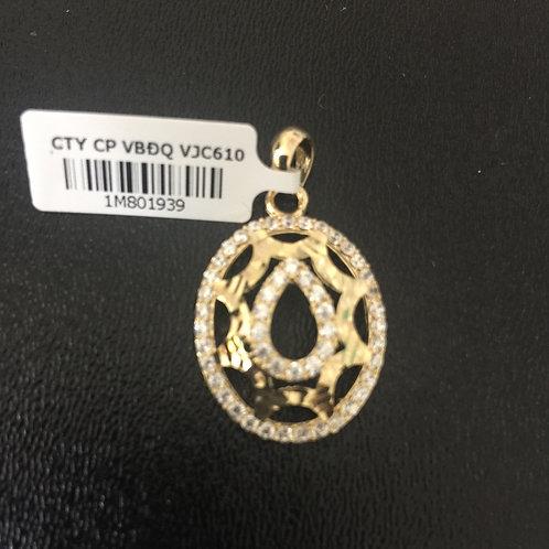 Mặt dây chuyền vàng oval VJC 610
