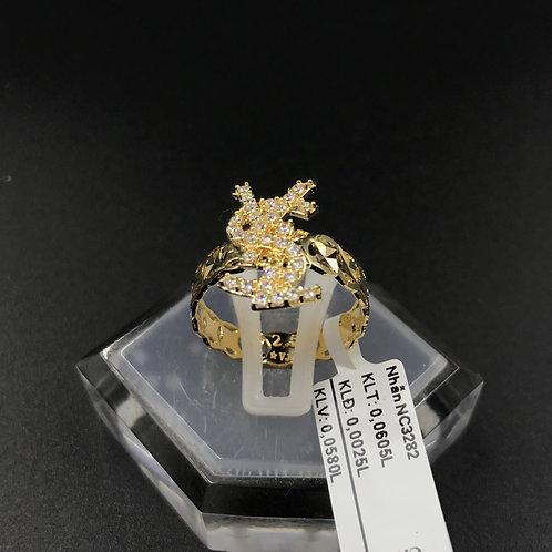 Nhẫn nữ YSL vàng đá trắng