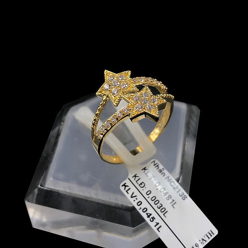 Nhẫn nữ ngôi sao vàng đá trắng VJC 610