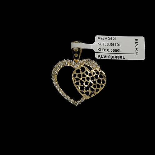 Mặt dây tim vàng đá trắng VJC 610