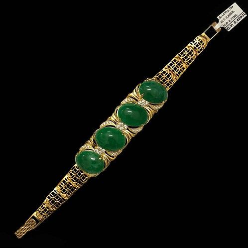 Lắc tay vàng nữ cẩm thạch VJC 610