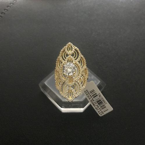 Nhẫn vàng hoa văn đá trắng VJC 610