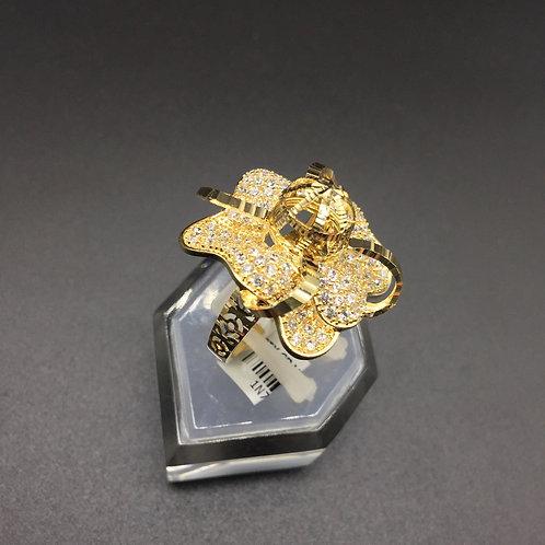 Nhẫn vàng nữ hoa đá tấm trắng VJC 610