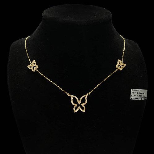 Dây chuyền bướm vàng đá trắng VJC 610