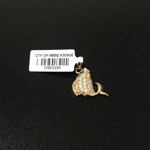 Mặt dây chuyền vàng cá chép 610
