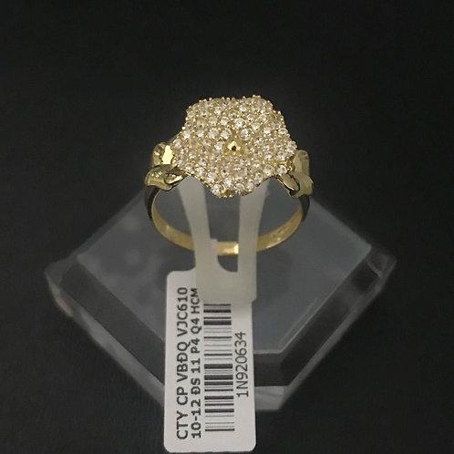 Nhẫn nữ hoa vàng đá trắng VJC 610
