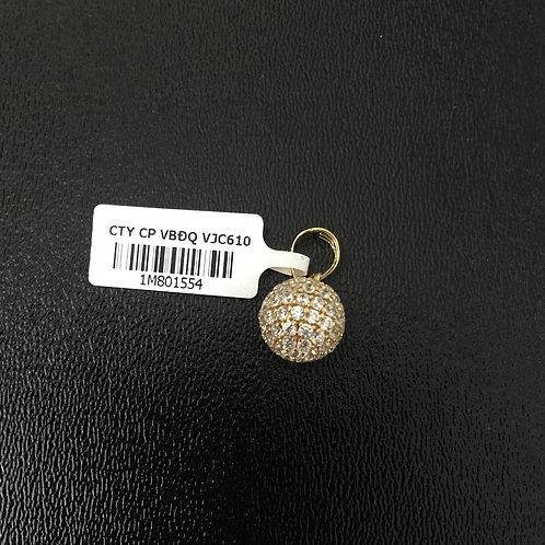Mặt dây chuyền vàng đá tấm trắng VJC 610