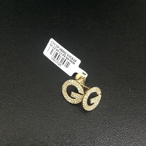 Bông tai vàng đá trắng gucci VJC 610