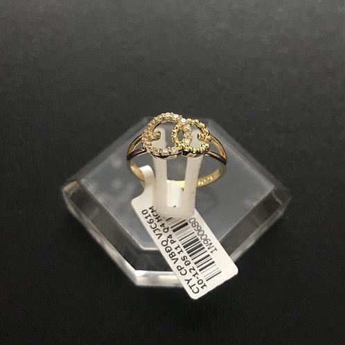 Nhẫn vàng Gucci đá trắng VJC 610