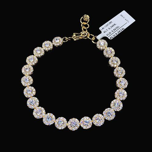 Lắc tay hoa vàng đá trắng VJC 610
